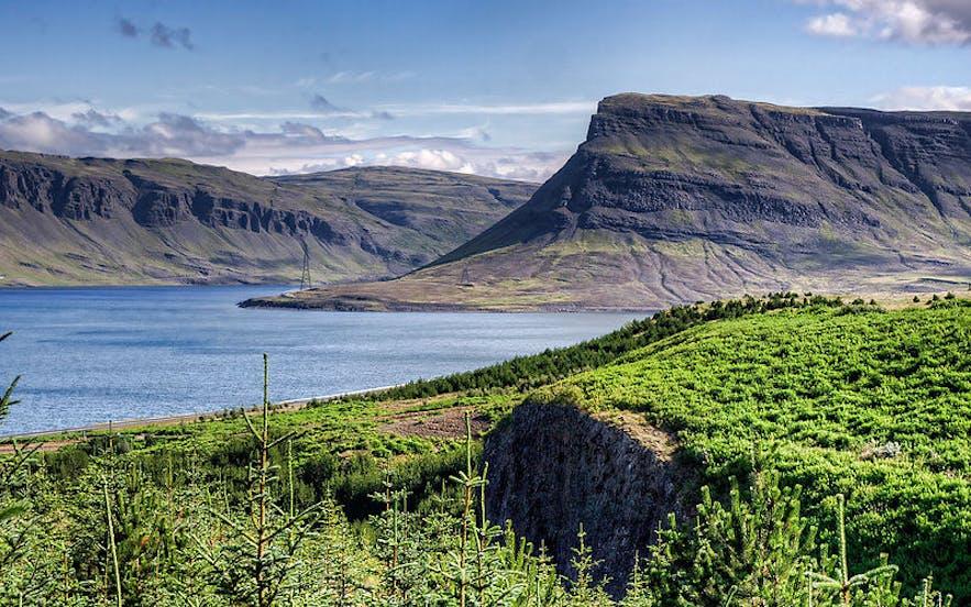 Hvalfjordur (Whale Fjord) in west Iceland