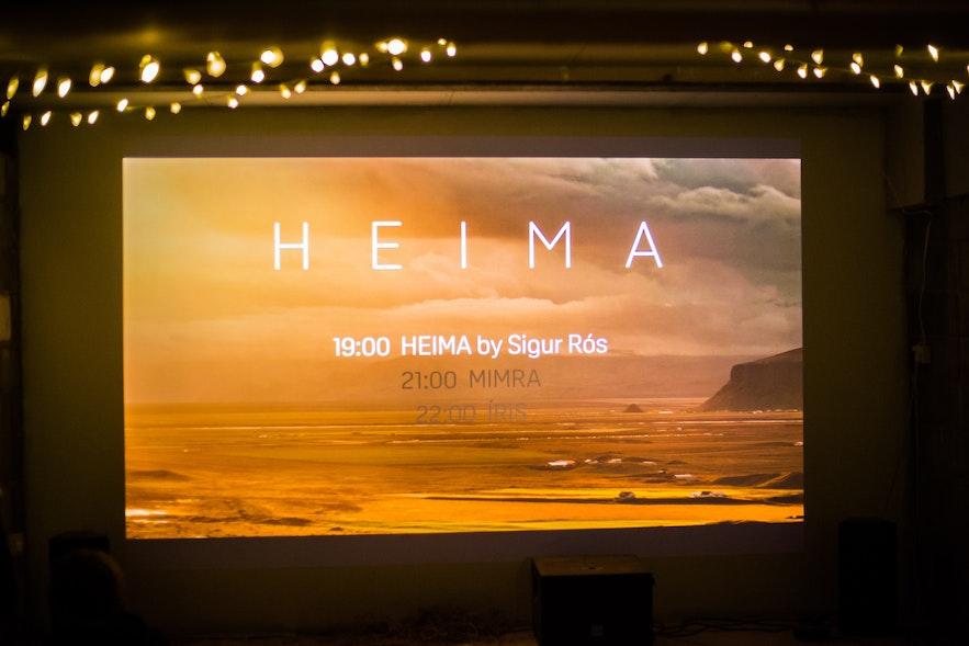 HEIMA screening by Huldufugl in London