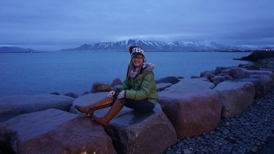 Ania in Reykjavík, Iceland
