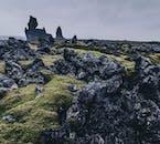 Moss covered lava fields of Snæfellsnes peninsula.