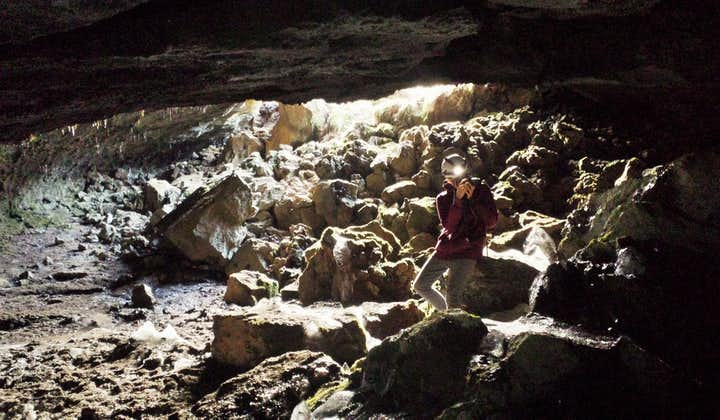 There is nothing like greeting the sun again after having explored the underworld of cave Leiðarendi.