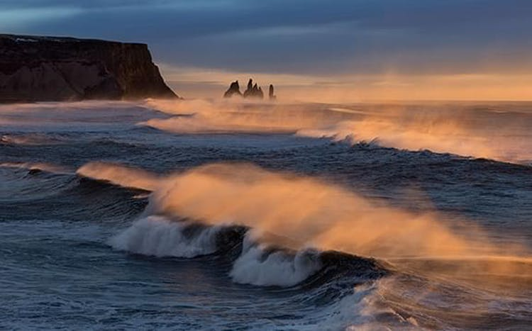 The Reynisdrangar sea stacks on the South Coast of Iceland are the perfect photo subject from any angle.
