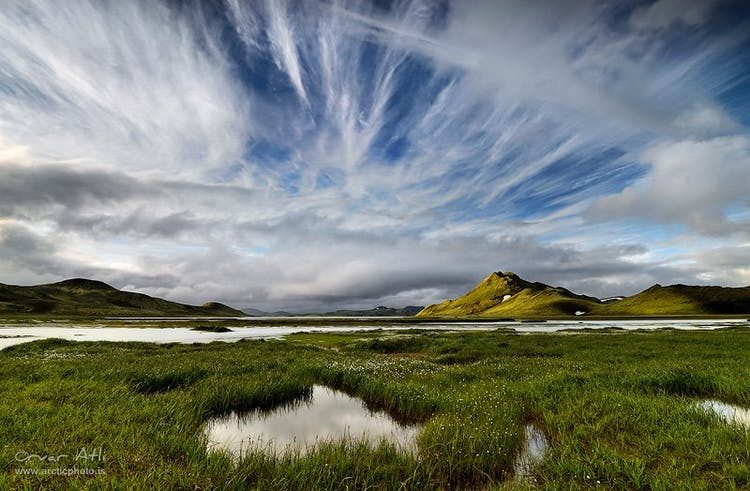 A beautiful summer sky lights up the highlands for your photography adventure.