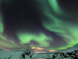 An Evening of Northern Lights at Laugarvatn Fontana