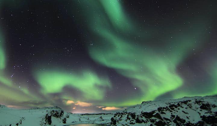 冬季冰岛浪漫夜特色旅行团|神秘北极光 + 丰塔纳温泉