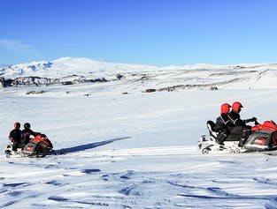 Snowmobile Tour on Myrdalsjökull Glacier