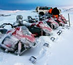 Mýrdalsjökull Glacier is, naturally, freezing; but snowmobiles are capable of handling extreme temperatures.