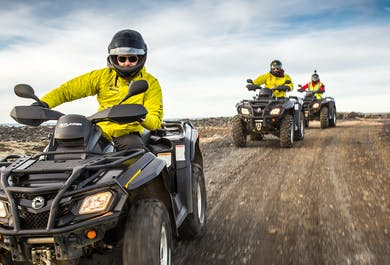 Lava Beach ATV Tour & Blue Lagoon