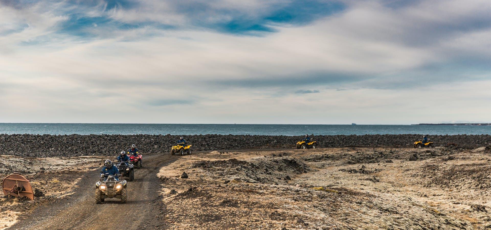 Lava Beach ATV Tour & Blue Lagoon