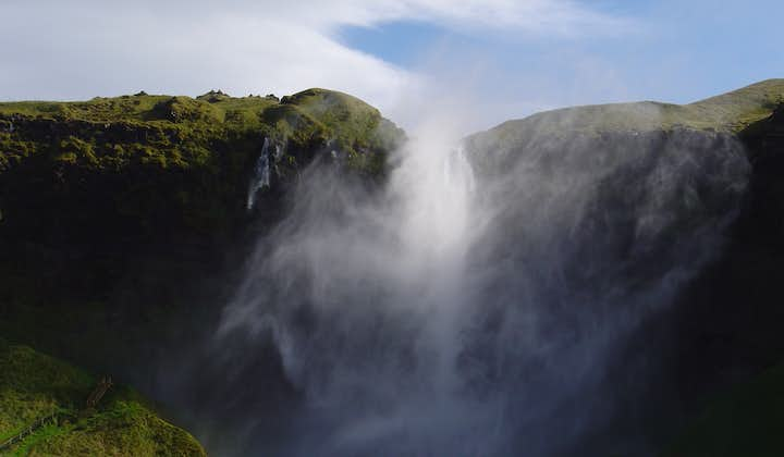 The magnificent spray created by the power of Seljalandsfoss