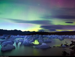 Guided South Coast Minibus Tour to Jokulsarlon Glacier Lagoon | Boat Ride or Northern Lights