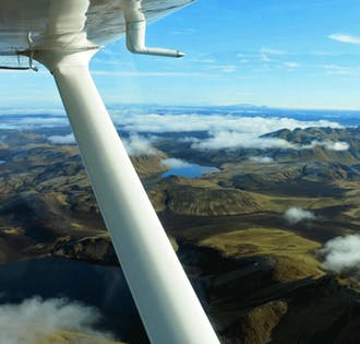 Flight Sightseeing   Landmannalaugar & Skaftafell Nature Reserve