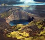 Survol du Landmannalaugar au-dessus de Skaftafell