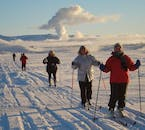 Stay active and fit on your winter holiday in Iceland by going skiing across incredible snow-draped natural vistas.