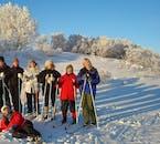 Faire du ski de fond dans le nord de l'Islande est une expérience hivernale essentielle.
