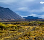 The area surrounding Lake Mývatn is home to stunning mountains.
