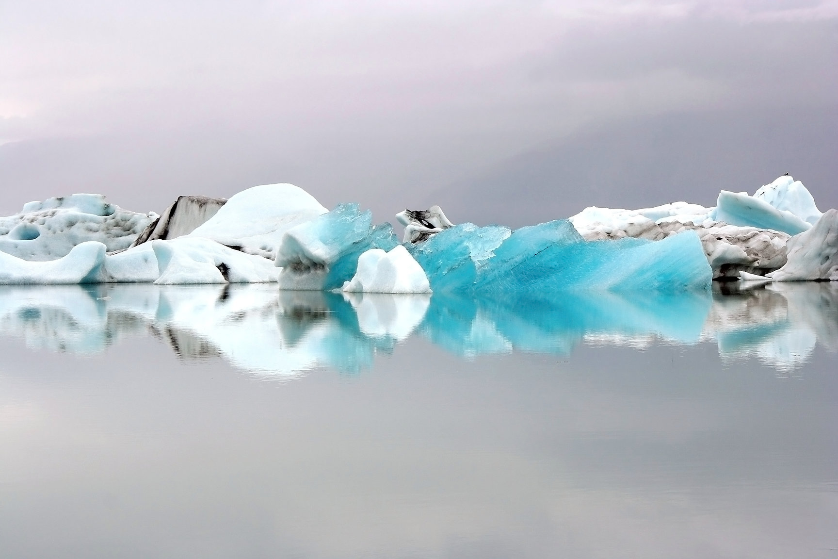 The icebergs of Jökulsárlón glacier lagoon have broken off from Vatnajökull which is the largest ice cap in Iceland.
