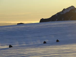 Express Snowmobile Tour at Langjokull Glacier