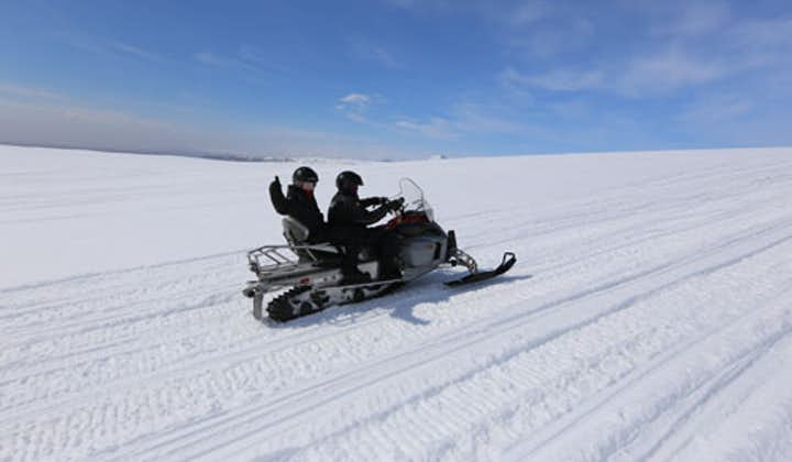 Have a snowmobile adventure in Iceland on this Golden Circle tour with a Super Jeep.