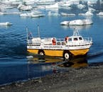 Zodiac boat tours at Jökulsárlón allow you to get up and close personal with the floating icebergs.