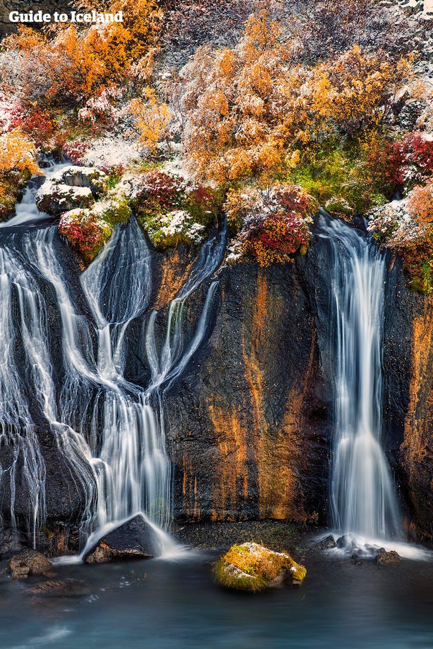 冰岛熔岩瀑布(Hraunfossar)