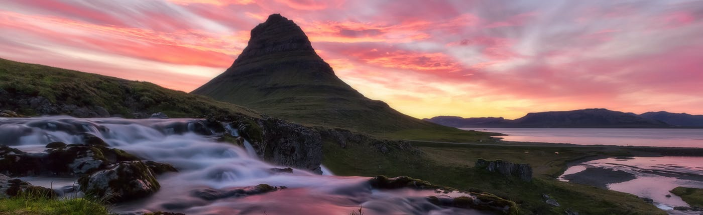 Mt Kirkjufell in Snæfellsnes peninsula