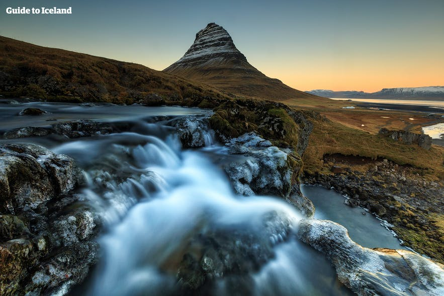 Kirkjufell mountain lies just outside Snæfellsjökull National Park