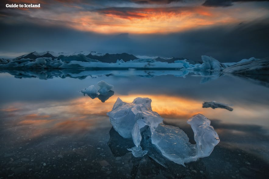 Jökulsárlón glacier lagoon by Vatnajökull glacier is a top attraction.