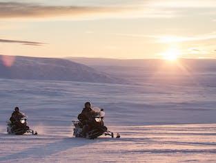 Snowmobile Into The Glacier