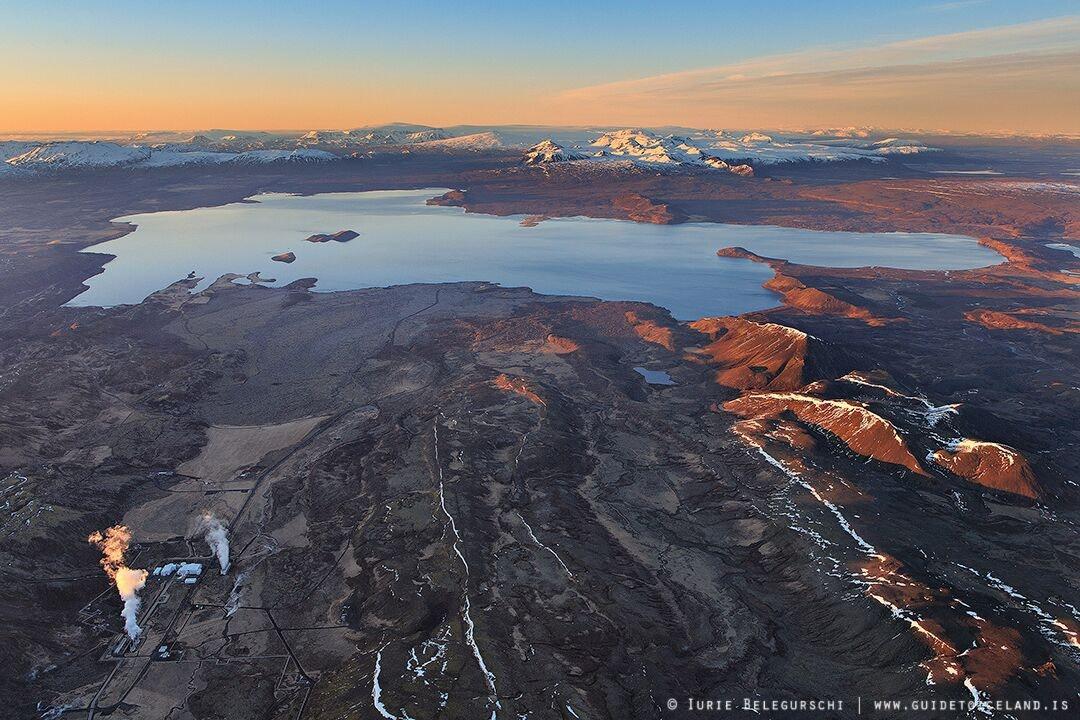 空中鸟瞰冰岛风景
