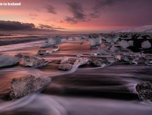 ヨークルスアゥルロゥン氷河湖への日帰りツアー