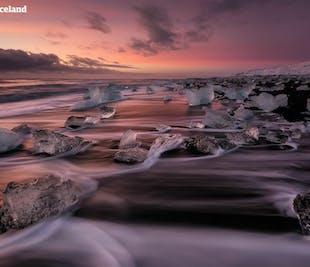 レイキャビク市内発|ヨークルスアゥルロゥン氷河湖への日帰りツアー