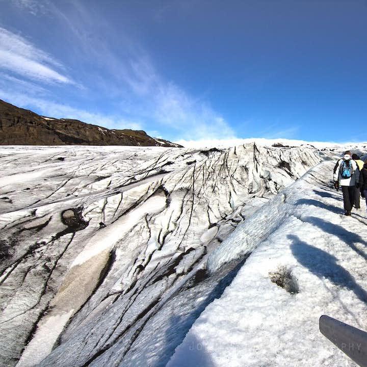 남부 해안 폭포와 솔헤이마요쿨 빙하 하이킹 투어   중급