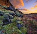 ศีสันของพื้นดินที่สดใส ในมรดกโลกยูเนสโก้ที่เดียวของประเทศไอซ์แลนด์