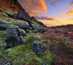 The vibrant colours of Iceland's only UNESCO World Heritage Site, Þingvellir National Park.