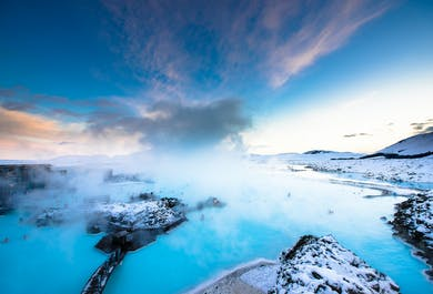 Półwysep Reykjanes | Blue Lagoon i pola lawowe