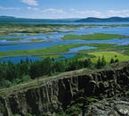 The viewing platform over Þingvellir National Park allows for inspiring views throughout the year.