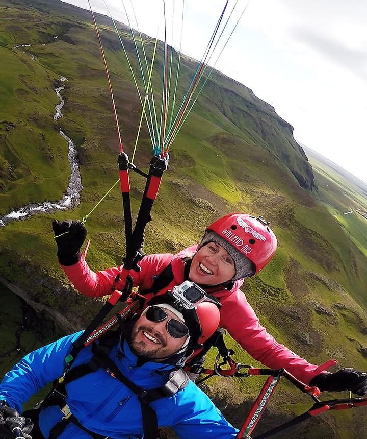 Paragliding in Iceland, Seljalandsfoss, South Coast