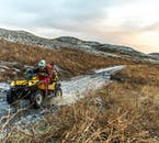 ATVs allow their rider to reach locations otherwise inaccessible by foot.