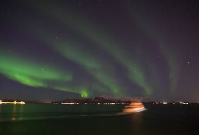 Horses & Northern Lights by boat