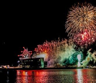 Silvester Feuerwerks-Bootstour