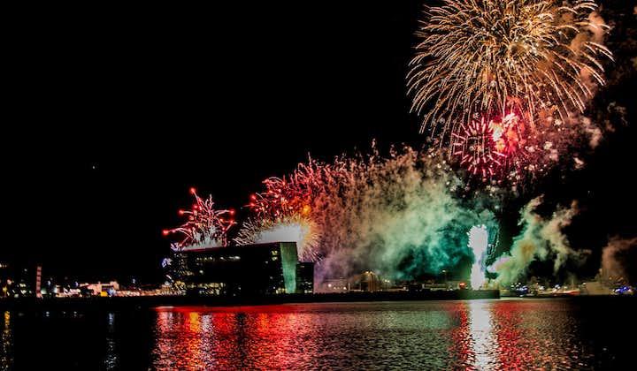 Soirée du Nouvel An à Reykjavik | Feu d'artifice en mer