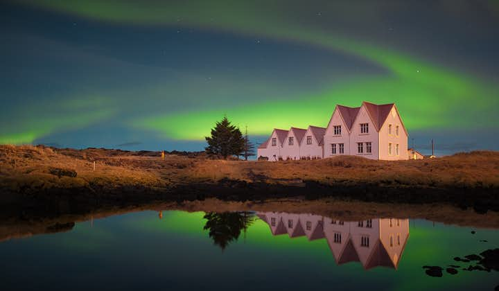 Þingvellir National Park is Iceland's most important historical site, seen here under stunning auroras.