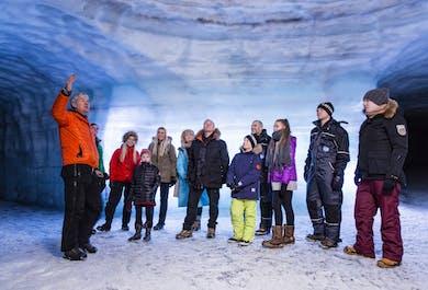 Tunel w lodowcu i wodospad Hraunfossar | Wycieczka w 10 językach