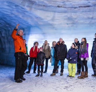 Ice Tunnel Classic & Hraunfossar Waterfalls | Live Tour with Audio Guide in 10 Languages