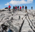 Your guide will keep you safely away from the weak spots and crevasses on Sólheimajökull.