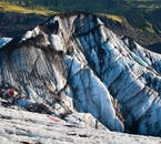 Glaciologists can learn a huge amount from the layers of strata in Sólheimajökull.