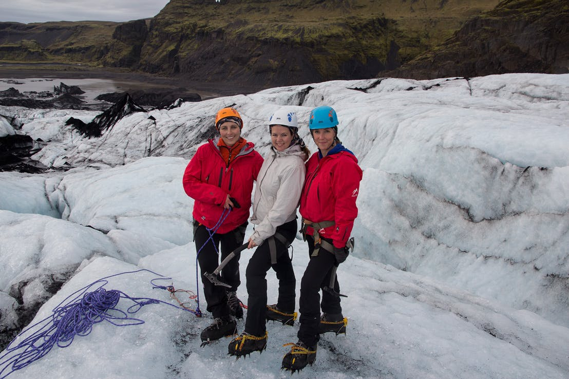 South Coast day tour   Waterfalls, glacier hiking, and ice climbing