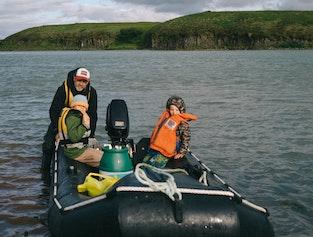 Experience a private island in the glacial river Þjórsá.