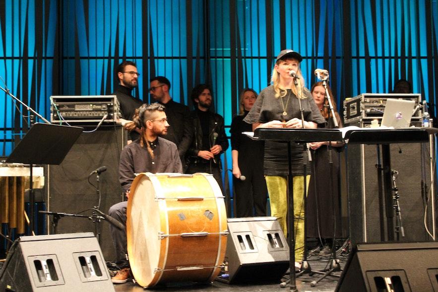 Aequora performing at Harpa Tectonics Festival